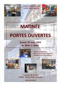 Matinée Portes Ouvertes 2014