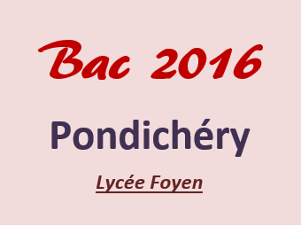 Bac_Pondichéry